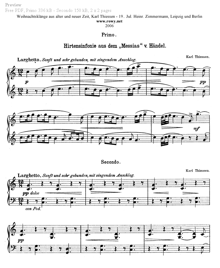 Piano i see the light piano sheet music : Piano Four Hands Sheet Music. Free classical piano music.
