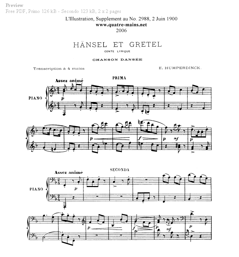 All Music Chords anime sheet music : Piano Four Hands Sheet Music. Free classical piano music.